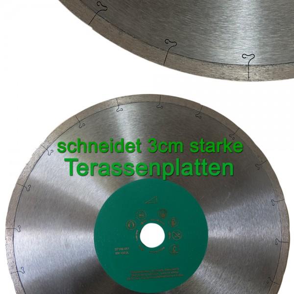 Diamant-Trennscheibe Ø 250 - 350mm Terassenprofi für 2-3cm starke Terassenplatten