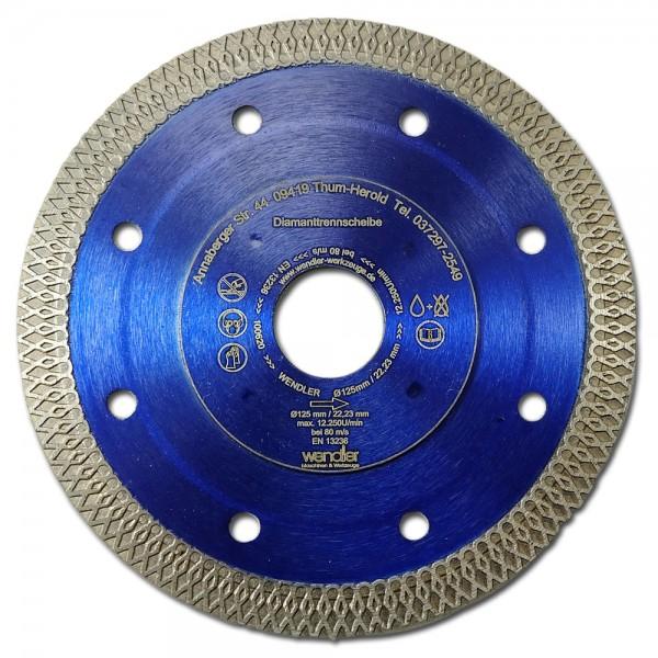 Diamant Trennscheibe Ø125mm für hartes Feinsteinzeug A++++Qualität BlueStar