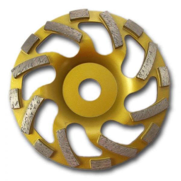 Diamant-Schleiftopf Ø 125 u. 175mm Beton-Turbo (gold) oder Estrich