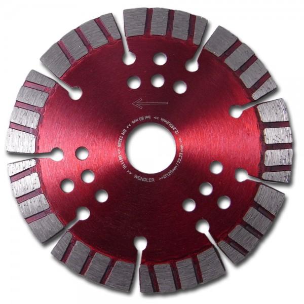 Diamant-Trennscheibe Ø 125 Turbo Rot für Mauernutfräse Winkelschleifer